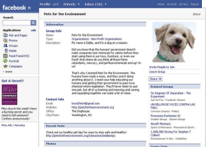 Facebook - Pets for the Environment